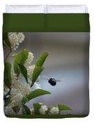 Carpenter Bee In Flight Duvet Cover