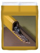 Carpenter Pencil Carved Into A Train By Cindy Chinn Duvet Cover