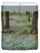 Carpet Of Blue Duvet Cover