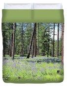 Carpet Of Lupine In Washington Forest Duvet Cover