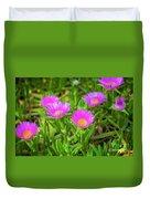 Carpobrotus Edulis Pink Ice Plant Duvet Cover
