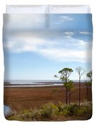 Carrabelle Salt Marshes Duvet Cover