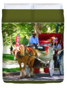 Carriage Colors Duvet Cover