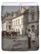 Carriages Back To Stephanplatz Duvet Cover