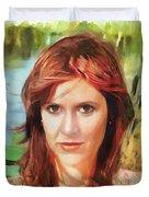 Carrie Fisher Duvet Cover