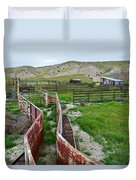 Carrizo Plain National Monument Ranch Duvet Cover