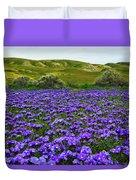 Carrizo Plain National Monument Wildflowers Duvet Cover