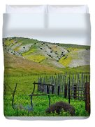 Carrizo Plain Ranch Wildflowers Duvet Cover