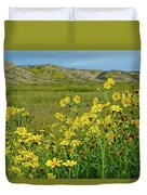 Carrizo Plain Yellow Daisies Duvet Cover