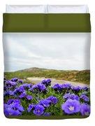 Carrizo Plains Phacelia Duvet Cover