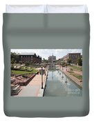 Carroll Creek Park In Frederick Maryland Duvet Cover
