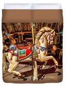 Carrousel Horse Ride Duvet Cover