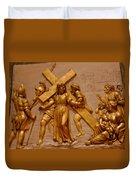 Carrying Cross Duvet Cover