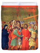 Carrying Of The Cross 1311 Duvet Cover