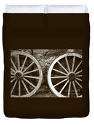 Cart Wheels Duvet Cover