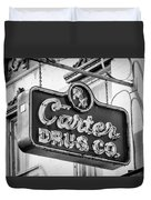 Carter Drug Co - Bw Duvet Cover