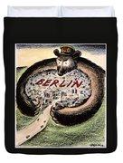 Cartoon: Cold War Berlin Duvet Cover