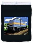 Illustrated Train Duvet Cover