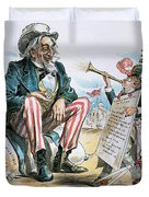 Cartoon: Uncle Sam, 1893 Duvet Cover
