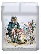Cartoon: Uncle Sam, 1893 Duvet Cover