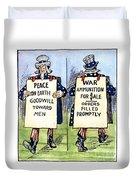 Cartoon: U.s. Neutrality Duvet Cover