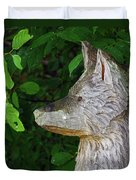 Carved Dogs Head Duvet Cover