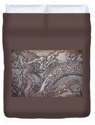 Carved Dragon Duvet Cover