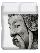Carved Monk Statue Duvet Cover