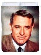 Cary Grant By John Springfield Duvet Cover
