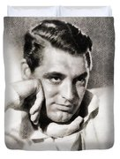 Cary Grant, Hollywood Legend By John Springfield Duvet Cover