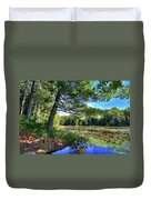 Cary Lake In August Duvet Cover