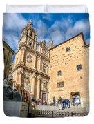 Casa De Las Conchas In Salamanca Duvet Cover