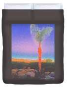 Casapaz  Palm At Dawn Duvet Cover