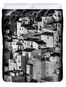Casares Pueblo. Black And White Duvet Cover