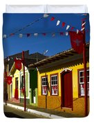 Colonial Colofrul Houses At Sao Luiz Do Paraitinga - Brazil Duvet Cover