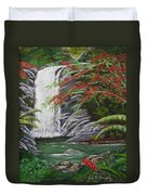 Cascada Tropical Duvet Cover