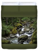 Cascade In The Rainforest Duvet Cover