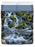 Cascade Of Many Waters Duvet Cover