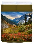 Cascade Pass Fall Duvet Cover by Inge Johnsson
