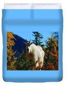 Cascade Range Mountain Goat Duvet Cover