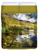 Cascade Springs Large Pool  Duvet Cover