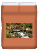 Cascade Springs With Bridge Duvet Cover
