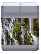 Cascades Of Burney Falls Duvet Cover