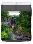 Cascadilla Gorge Cornell University Ithaca New York 02 Duvet Cover