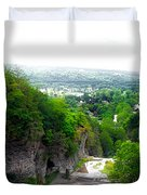 Cascadilla Gorge Cornell University Ithaca New York Panorama Duvet Cover
