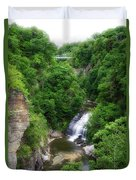 Cascadilla Waterfalls Cornell University Ithaca New York 01 Duvet Cover