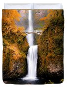 Cascading Gold Waterfall II Duvet Cover