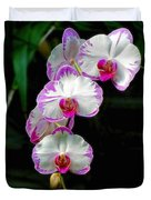 Cascading Orchid Beauties Duvet Cover