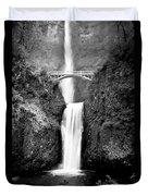 Cascading Waterfall Multnomah Falls Duvet Cover
