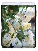 Cascading White Roses Duvet Cover